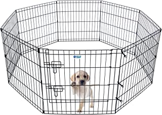 HACHI SHOP Pet Playpen Foldable Exercise Pen for Dogs Cats Rabbits - 24 inches (24