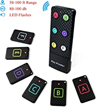 Key Finder,SBNSPART Wireless RF Item Tracker Remote Finder Anti-Lost Alarm Key Locator with 80dB Beeping Sound 100ft Operating Range for Tracking Keys,Wallet, Luggage,Pet, Phone