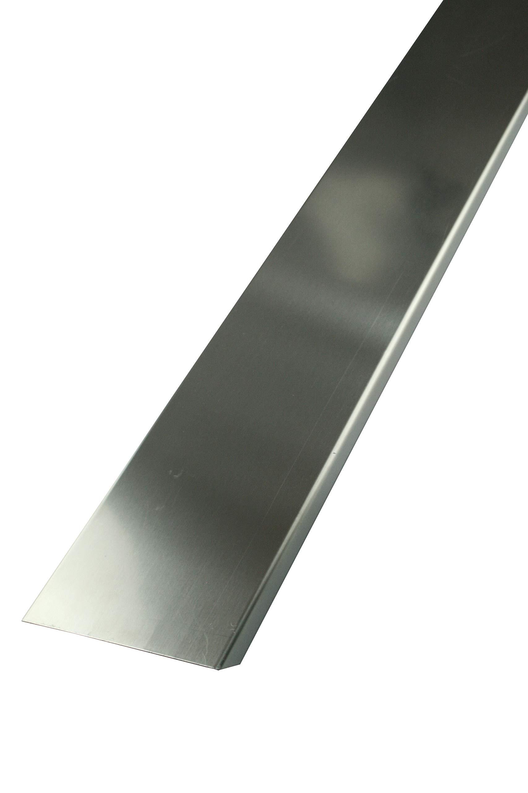 Perfil Fin de 10 cm bloques de vidrio de espesor - 2,5 m, acero ...