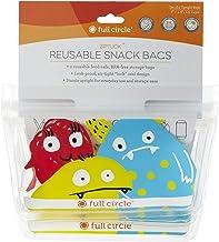 Full Circle ZipTuck Reusable Snack Bag Set, Monster