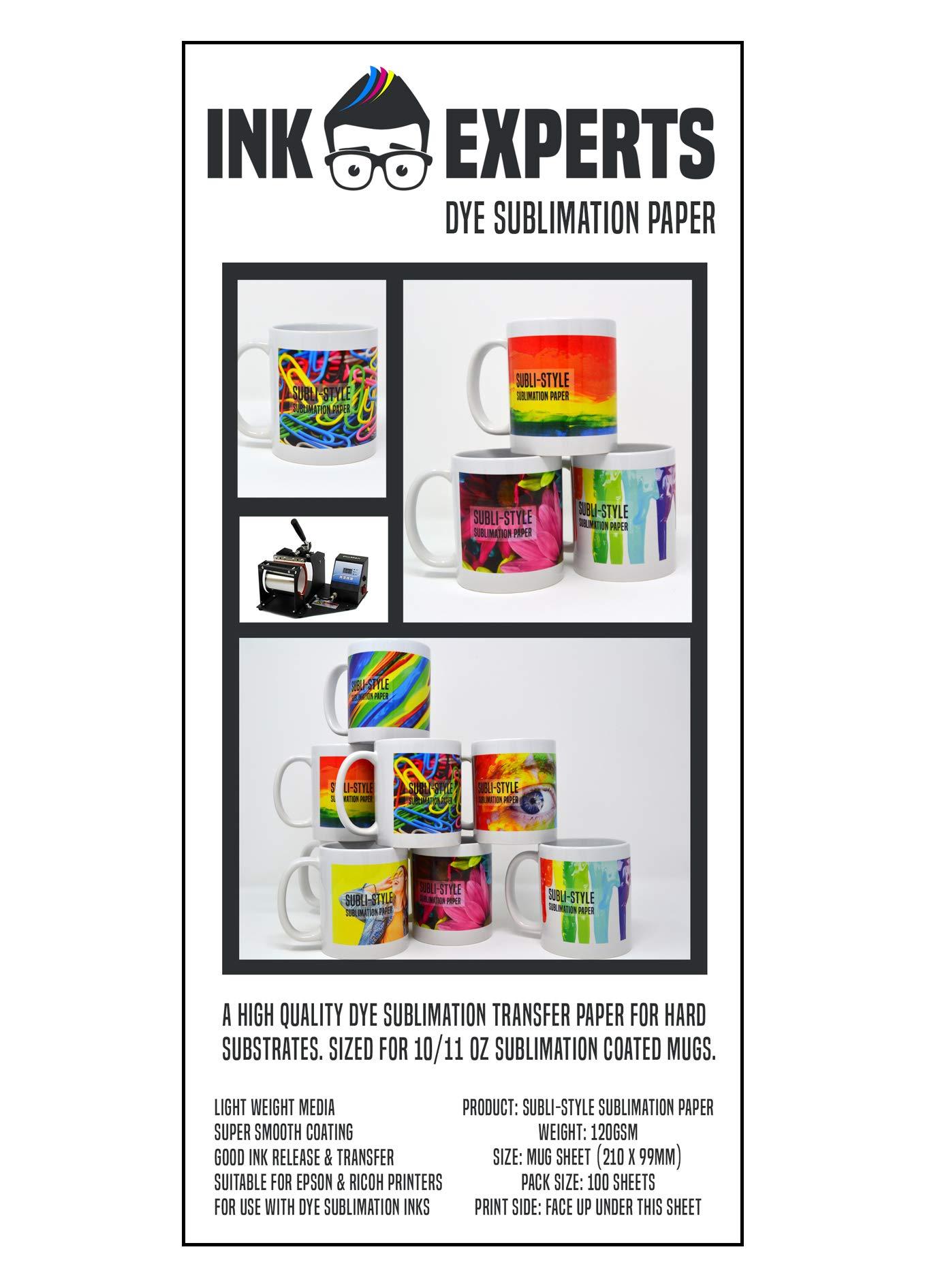 Ink Experts - Papel de sublimación (120 g/m²) 100 Sheets: Amazon.es: Oficina y papelería