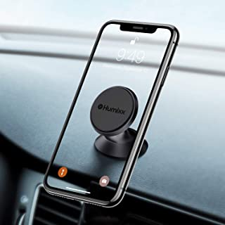 humixx 【アップグレード 8マグネット】 マグネット式車載電話マウント ユニバーサル電話車ホルダー 超パワフル ミニ車載電話ホルダー ダッシュボード全携帯電話 iPhone X 11 Pro Max XS XR Samsung Galaxy S20 Note S10 S9