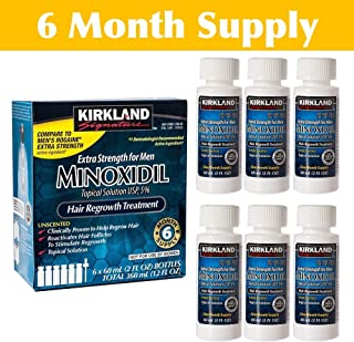 KIRKLAND MINOXIDIL SOLUTION 5% - SIX MONTHS SUPPLY - EXPIRY 2020