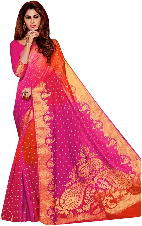 Bollywood Wedding Zari Saree Collection Silk Sari Blouse Formal Designer Muslim Women Indian Ethnic 2602 HIT