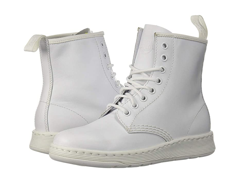 Dr. Martens Newton 8-Eye Boot (White Venice) Lace-up Boots