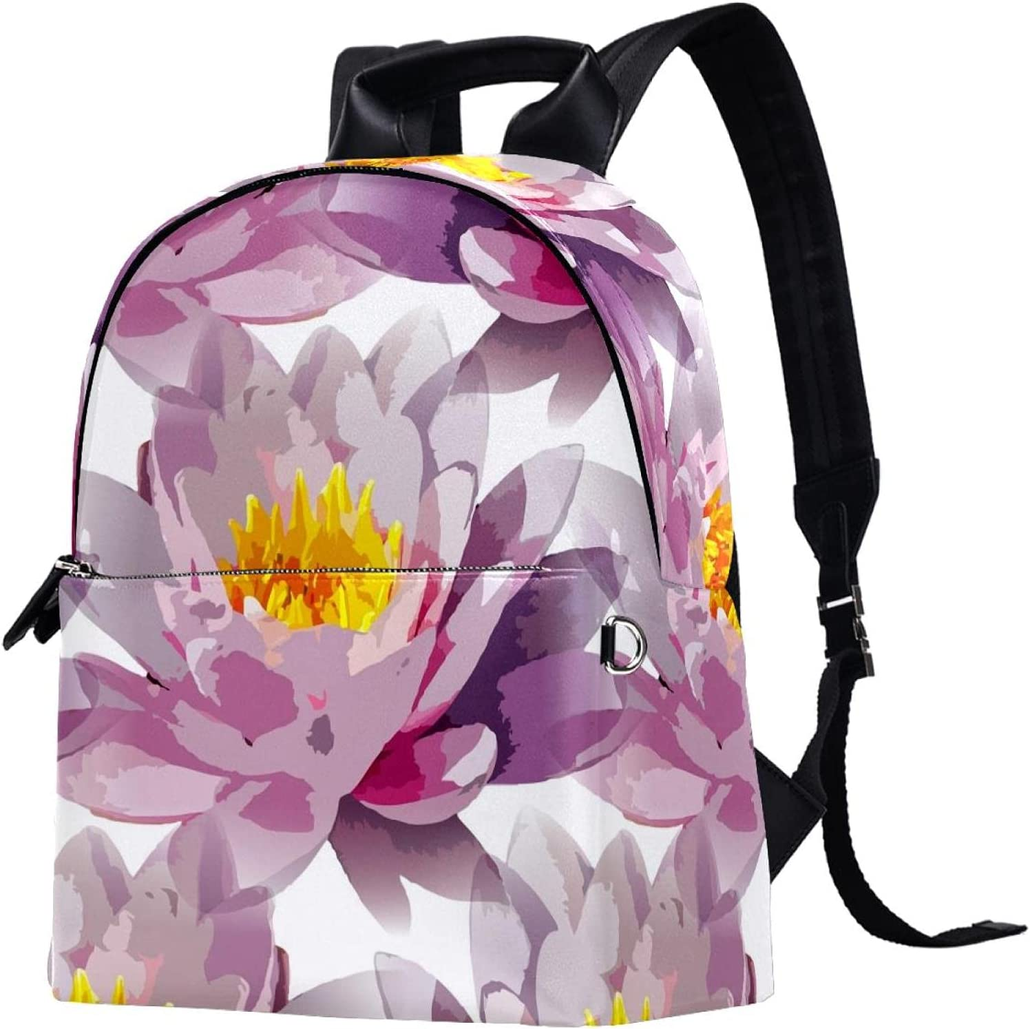 Backpack for Girls Bookbags,Purple Lotus School Challenge the lowest price of Japan Manufacturer regenerated product