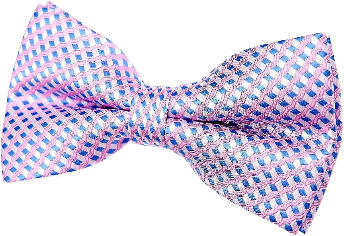 Vintage Three-Colour Polka Dots Woven Pre-tied Bow Tie (4.5