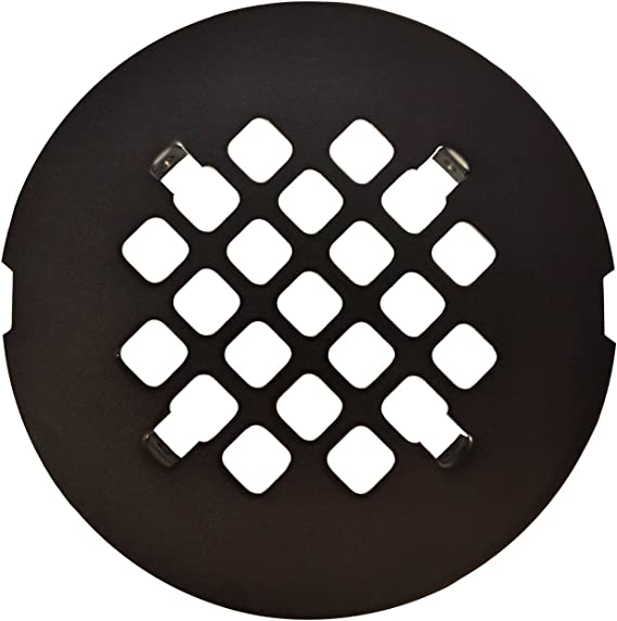 Oil Rubbed Bronze Round Snap In Shower Drain Grate 4 1 4 Replacement Cover Amazon Com