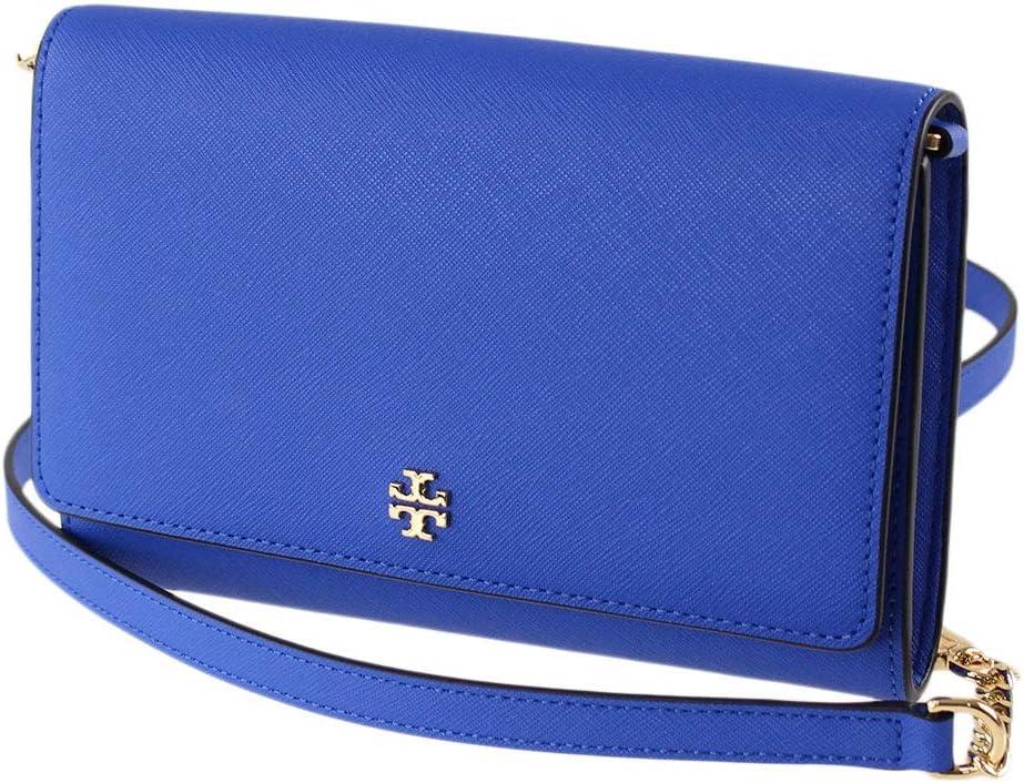 Tory Burch Emerson Chain Wallet - Bondi Blue
