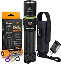 Fenix UC30 New Edition 1000 Lumens USB Rechargeable LED Flashlight with Fenix Charging Cable, LumenTac Organizer and Adapter