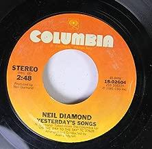 Neil Diamond 45 RPM Yesterday's Songs / Guitar Heaven