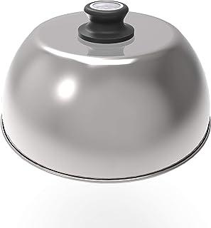 Lotus grill - coperchio per griglia in acciaio inossidabile per grill classico / standard (G340) con termometro, per arros...