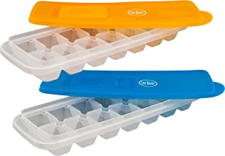 Ice Cube Trays with Lids for Freezing Food, Water, and Juice by Chef Buddy- Kitchen Essential, Easy Fill and Spill Resista...