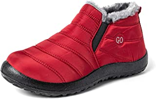 XIKONG Chaussures de Mousse de Mousse à la mémoire Chaud pour Hommes Faux Fourrure Doublure Hiver Maison Chaussures avec d...