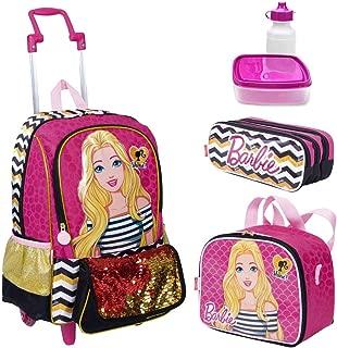 Kit Mochila Infantil Barbie 19Z Lancheira Estojo Sestini