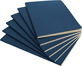 Simply Genius Soft Cover Notebook, 92 Rules Pages, 5.5x8.3 in, Navy - Pack of 6