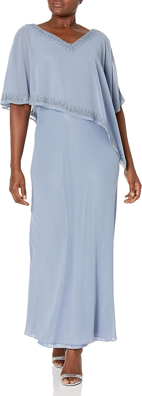 J Kara Women's Embellished Overlay Gown