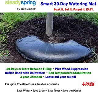 Smart Tree Watering Bags - AUTO Refills with RAIN and Slow Releases As Plant Needs - New Water Absorption Slow Release Technology Prevents Over/Under Watering Large Self Water 36