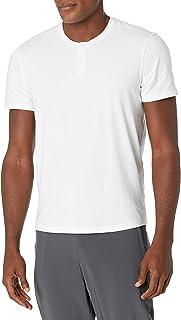 Peak Velocity Amazon Brand Men's Pima Cotton Modal Short Sleeve Henley Shirt