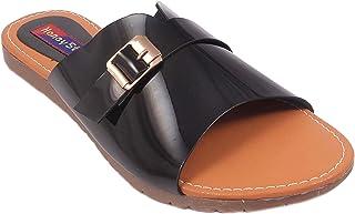 Honey Step Flate Confortable Slipper for Girls and Women in Black