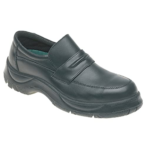 cb3693fb930 Himalayan 611 S1 SRC Black Wide Fitting Slip On Steel Toe Cap Safety Work  Shoes