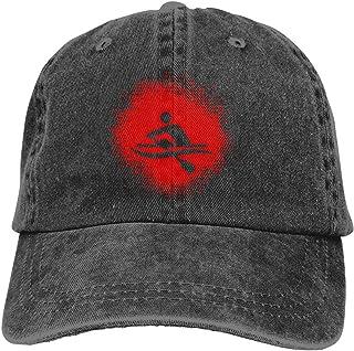 WGDXLS Men's/Women's Rowing Paint Splatter Denim Fabric Baseball Cap Adjustable Hip-hop Cap Gray