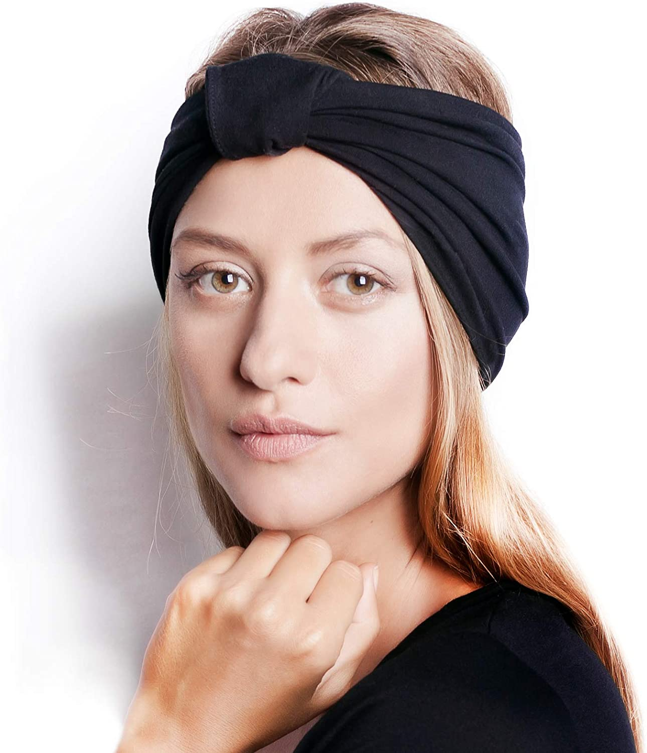 BLOM Original Headbands for Women. Wear for Yoga, Fashion, Working Out, Travel, or Running. Multi Style Design for Hair Styling and Active Living. Wear Wide Turban Knotted. Responsibly Made in Bali.