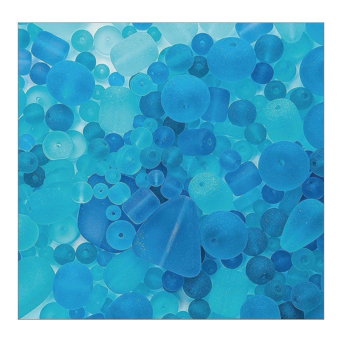 Sea Glass Bead Assortment, Ocean Wave~500 beads per pack!