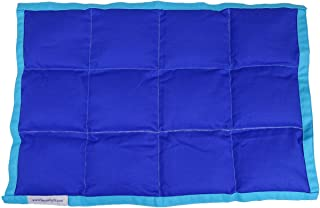 SensaCalm Sensory Weighted Lap Pad, Weighted Calm Blanket Dazzling Blue and Scuba Blue, 2 lbs 12 x 18 inches