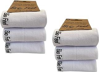 x6 Pares - Calcetines para Mujer - Algodón orgánico - Calcetines deportivos de primera calidad - Color blanco o negro
