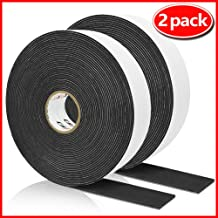 High Density Foam Tape, Seal Strip Self Adhesive Weather Stripping for Doors Seal and Window, Insulation Single Sided Foam Strips,2 Rolls(1/16