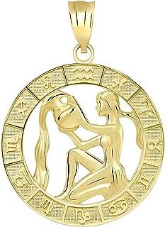 CaliRoseJewelry 14k Yellow Gold Zodiac Pendant