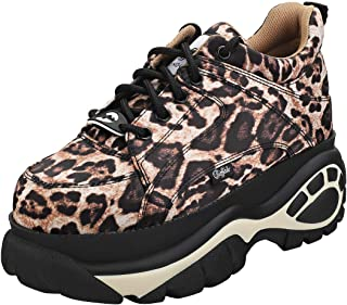 Buffalo London 1337-14 Womens Leopard Trainers