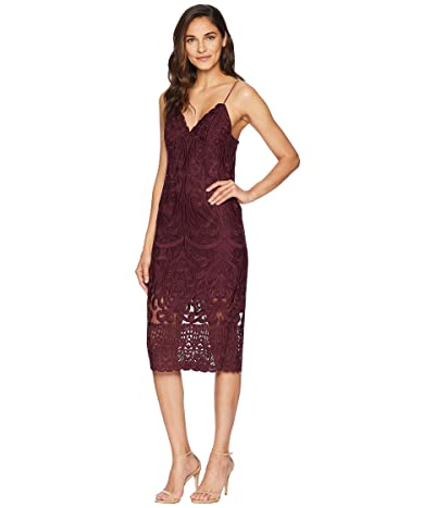 Bardot Gia Lace Dress (Wine) Women