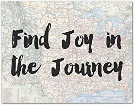 Find Joy in the Journey - 11x14 Unframed Typography Art Print - Makes a Great Inspirational Gift Under $15