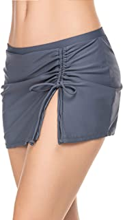 Ekouaer Women's Swimsuits Swimming Skirt Lightweight Cute Bikini Bottom Elastic Waisted Skorts for Summer Beach