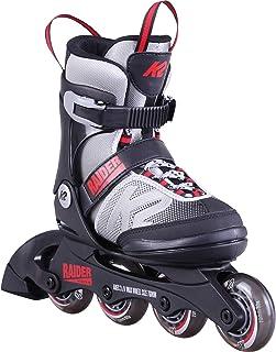 اسکیت های K2 Skate Youth Raider Inline Skates ، خاکستری / قرمز