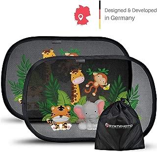 Tasche Sonnenschutz Auto Baby mit UV Schutz - Sonnenschutz Auto Kinder Zwei Autosonnenblenden inkl 2 St/ück Selbsthaftende Sonnenblende Auto Baby 48x30 cm Auto Sonnenschutz Baby
