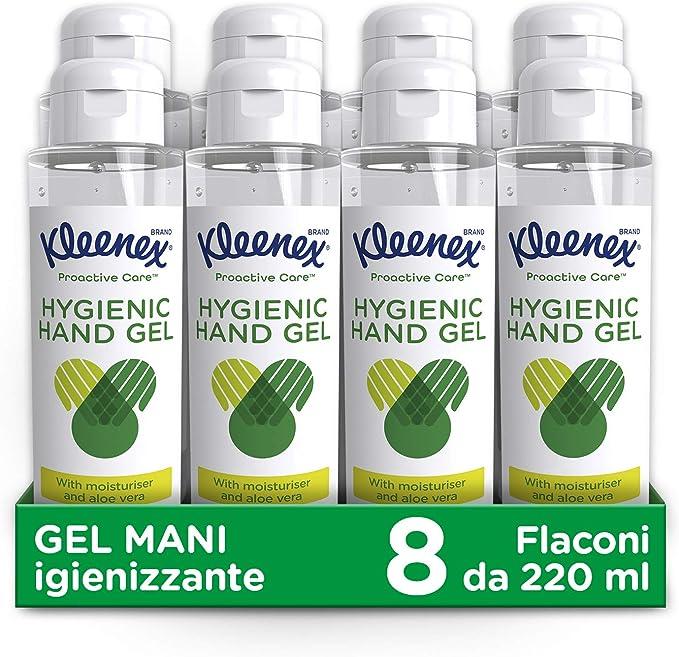 24 opinioni per Kleenex Proactive Gel Mani Igienizzante, 8 Confezioni Da 220 Ml