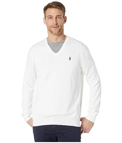 Polo Ralph Lauren Cotton V-Neck Sweater (White) Men
