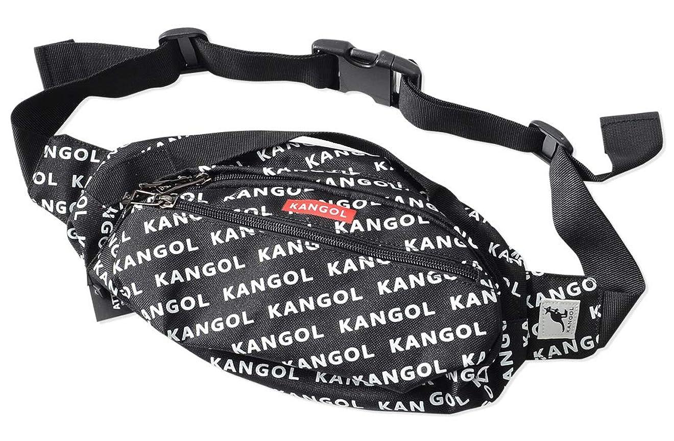 ウサギ累計クリエイティブカンゴール KANGOL 財布やスマホが入るメッシュポケット ストリート感いっぱいの赤のBOX LOGO ボディーバッグ ウエスト ポーチバッグ メンズ KGSA-BG00042 WT