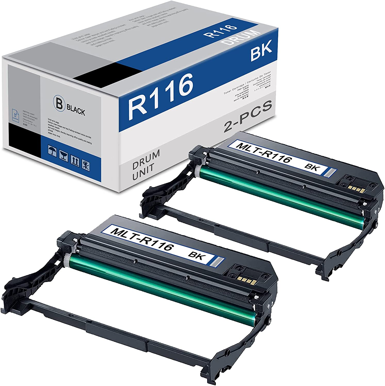 (2-Black,High Yield) MLT-R116 Imaging Unit Replacement for R116 Drum Xpress M2676FH M2875FW M2625 M2626 M2885FW M2876HN M2625 2626 2825 2826 2835 M2675 2875 SV134A Printer Drum Unit,10,000 Pages