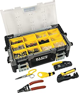 Klein Tools VDV001-833 VDV ProTech Kit with Transport Case, Cable Stripper, Crimper, Compression Connecters, Cable Cutter, Data/Telephone Plugs