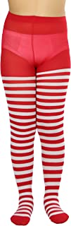 girls red striped tights
