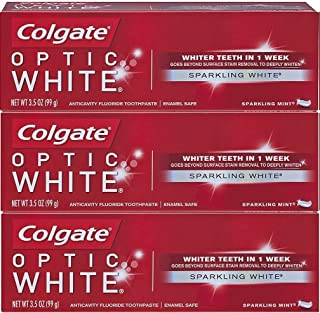 Colgate Optic White Sparkling Mint Toothpaste 3.5oz (Pack of 3)
