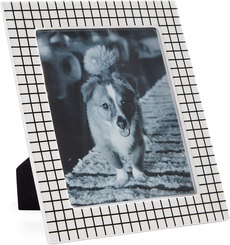 Now House by Jonathan Adler Grid Frame, 8  x 10 , Black White