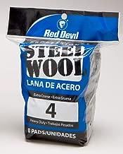 Red Devil 0327 8-Pack Steel Wool, #4 Extra Coarse