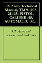US Army Technical Manual, TM 9-1005-211-35, PISTOL, CALIBER .45, AUTOMATIC: M1911A1, WITH HOLSTER, W/E, (1005-673-7965), PISTOL, CALIBER .45, AUTOMATIC: ... SHOULDER, W/E, (1005-561-2003), 1968