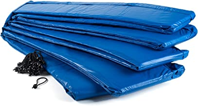Ampel 24 trampoline randafdekking, passend voor trampoline Ø 366 cm, scheurbestendige veerafdekking en blauwe UV-bestendig...