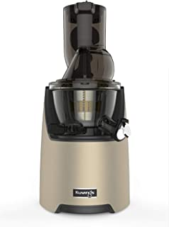 Kuvings Whole Slow Juicer EVO820CG Higher Nutrients and Vitamins, BPA-Free Components, Easy to Clean, Ultra Efficient 240W, 50RPMs, Includes Smoothie and Blank Strainer - Champagne, Gold